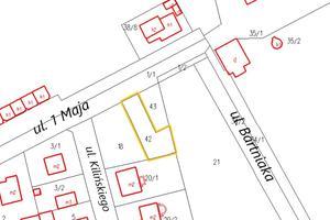 nieruchomość ul. 1 Maja - mapa
